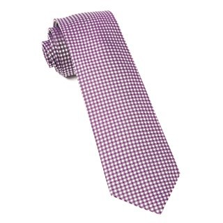 Bahama Checks Plum Tie