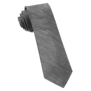 Jet Set Solid Grey Tie
