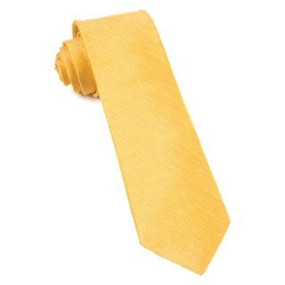 Jet Set Solid Yellow Gold Tie
