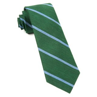Spring Break Stripe Hunter Green Tie