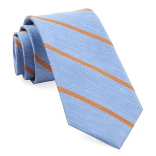 Spring Break Stripe Light Blue Tie