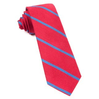 Spring Break Stripe Apple Red Tie