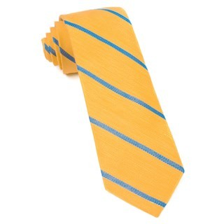 Spring Break Stripe Yellow Gold Tie
