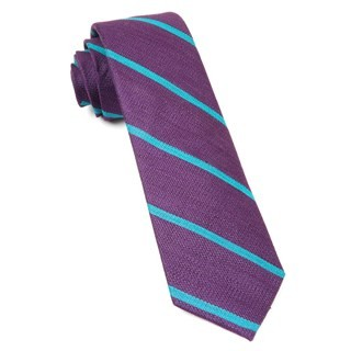 Spring Break Stripe Deep Plum Tie