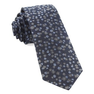 Free Fall Floral Navy Tie