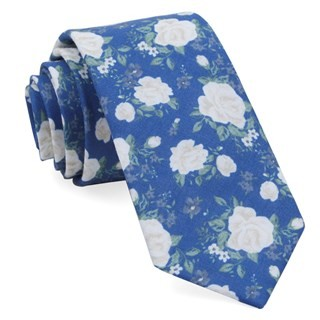 Hodgkiss Flowers Royal Blue Tie