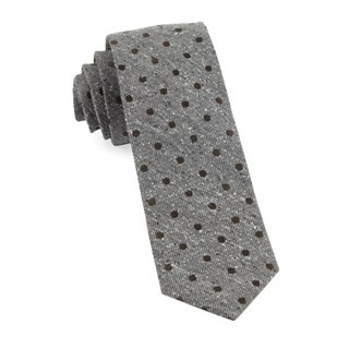Revolve Dots Brown Tie
