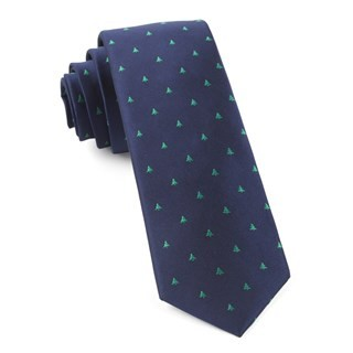 Evergreen Navy Tie
