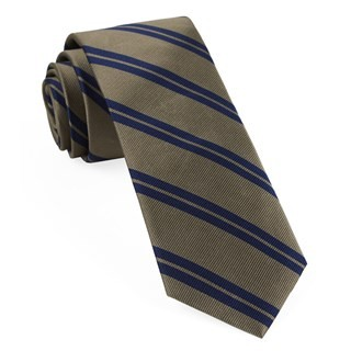 Center Field Stripe Champagne Tie