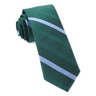 Goal Line Stripe Hunter Green Tie