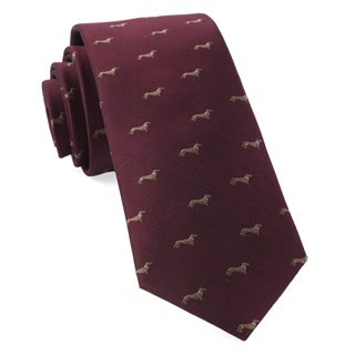 Dog Days Burgundy Tie
