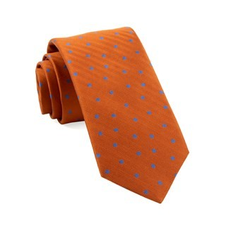 Jackson Dots Orange Tie