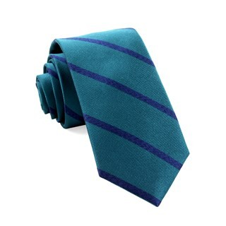Wheelhouse Stripe Teal Tie