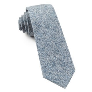 Buff Solid Light Serene Blue Tie