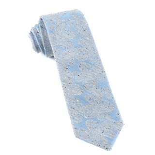 Hanging Paisley (Fs) Mystic Blue Tie