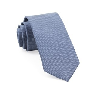 Union Solid Slate Blue Tie