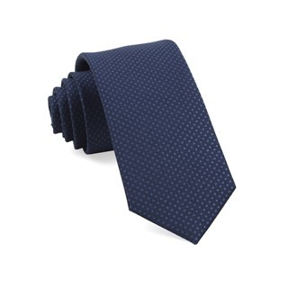 Dotted Spin Navy Tie