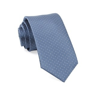 Mini Dots Slate Blue Tie