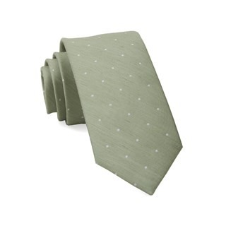 Bulletin Dot Sage Green Tie