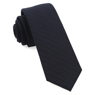Chalk Stripe Midnight Navy Tie
