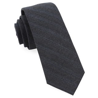 For The Course Stripes Charcoal Tie