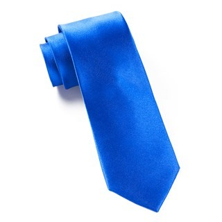 Solid Satin Serene Blue Tie