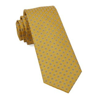 Bedrock Floral Yellow Gold Tie