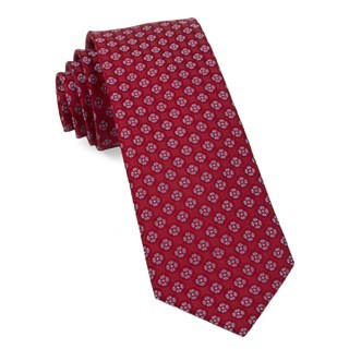 Bedrock Floral Apple Red Tie