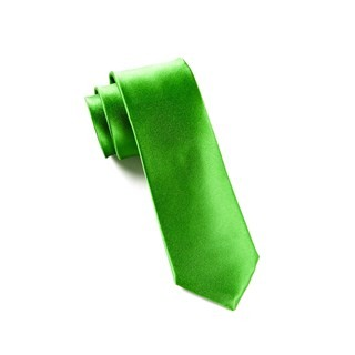 Solid Satin Kelly Green Tie