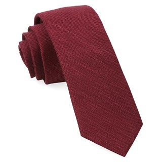 Bhldn Festival Textured Solid Black Cherry Tie