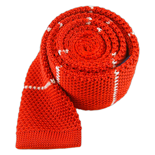 Knit Stripe Apple Red Tie