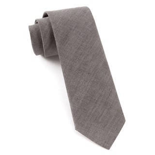 Classic Chambray Soft Grey Tie