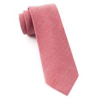 Classic Chambray Red Tie