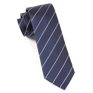 Pencil Pinstripe Classic Navy Tie