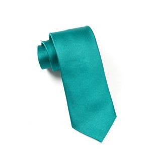 Grosgrain Solid Green Teal Tie
