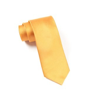 Grosgrain Solid Cantaloupe Tie