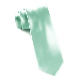 Solid Satin Spearmint Tie