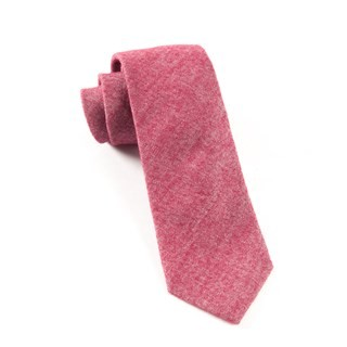 Flannel Herringbone Wine Tie
