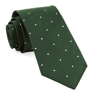 Satin Dot Hunter Tie