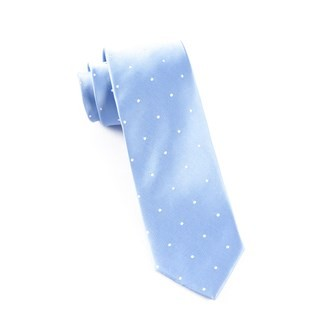 Satin Dot Light Cornflower Tie