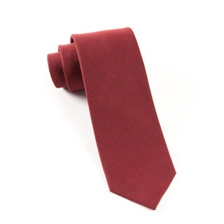 Downtown Solid Red Tie