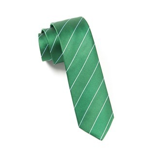 Pencil Pinstripe Emerald Green Tie