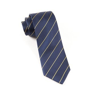 Pencil Pinstripe Navy Tie