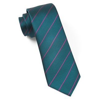 Pencil Pinstripe Green Teal Tie