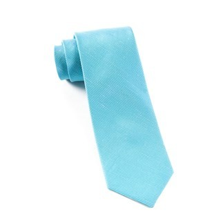 Fountain Solid Ocean Blue Tie