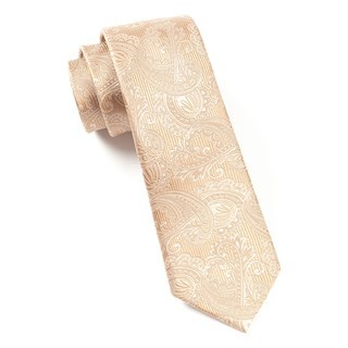 Twill Paisley Light Brown Tie