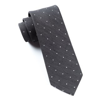 Bulletin Dot Grey Tie