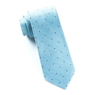 Bulletin Dot Washed Pool Blue Tie