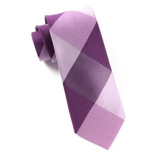 Bison Plaid Azalea Tie