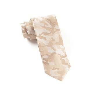 Camo Light Champagne Tie